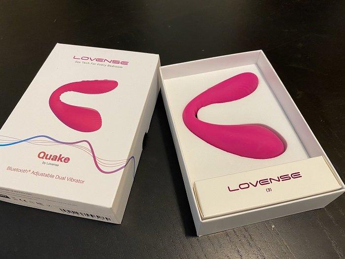 lovense quake unboxing